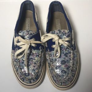 Sperry Top sider shoes Women's floral 6